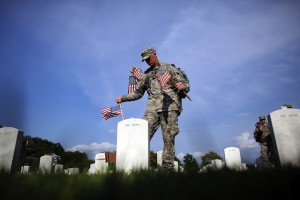 """Flags In"" Ceremony Held At Arlington National Ahead Of Memorial Day"